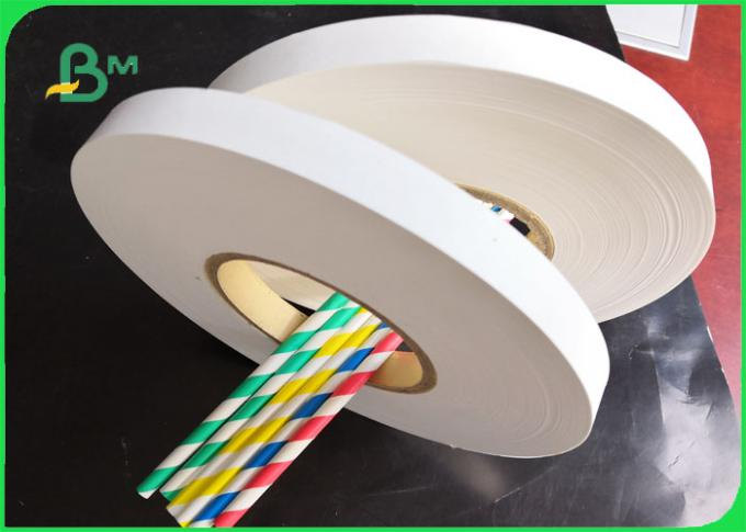 24mm 31mm 26gsm 28gsm 31gsm FDA Drinking Straw Wrapping Paper 4000 - 6000m length